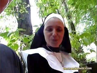 crazy german nun loves cock