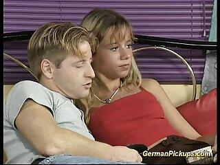 cute Couple fucking with man watching