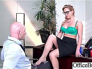 Round Big Tits Girl (Cherie Deville) Get Banged In Office clip-21