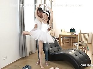 Horny Teen Takes Ballet Lesson While Fucking