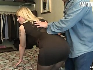AMATEUR EURO - Busty Teen Blondie Emma Blanc Has Anal Sex With An Older Guy That She Met On Tinder