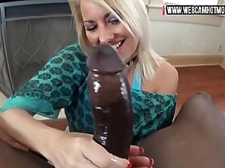 mother and son's best friend have a dirty talk night hardcore handjob full of cum