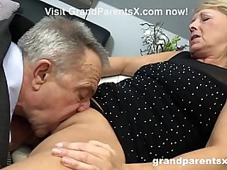 Watch a Sexy Teen Join Old Couple in Hot Threesome